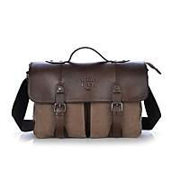 tanie Torby na ramię-Męskie Torby Brezentowy / Skórzany Torba satchel na Casual Coffee / Brown / Green