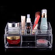 アクリル透明複雑な組み合わせ二重層化粧品のストレージボックス化粧品オーガナイザー