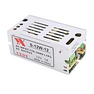 billige Lampesokler og kontakter-12V 1A 12W konstant spenning AC / DC Switching Power Supply Converter (110-240V til 12V)
