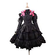 Inspireret af Date A Live Kurumi Tokisaki Anime Cosplay Kostumer Cosplay Kostumer / Kjoler Sløjfeknude Top / Nederdel / Pandebånd Til Dame Halloween Kostumer