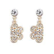 Moda Flor Diamante Brincos de BHora Mulheres