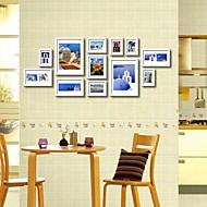 Branco Photo Wall Set Coleção quadro de 12