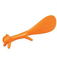 Søt kjøkken nyhet nom-stick ekorn ris skje padle scoop tilfeldig farge