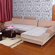 billige Overtrekk-elaine bomull kf sjekk mønster BORDURE grå sofa pute 333799