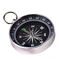 Bærbar Metal Kompas med nøglering (Large) - Sølv