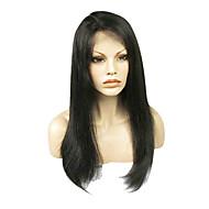 צפיפות 150% 20inch 100% שיער אדם מלא תחרת פאה הודית שחורה טבעית