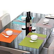 Muoti Yksinkertaisesti Style Assorted väri raidallinen Tabletti päivälliselle, L45cm x W 30cm, lämmönkestävä PVC