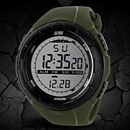 SKMEI Herre Digital Digital Watch Armbåndsur Sportsur Alarm Kalender Kronograf Vandafvisende LCD Gummi Bånd Kreativ Sort Blåt Gråt