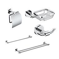 Χαμηλού Κόστους YALI.M®-5 Συσκευασμένα Brass Αξεσουάρ Μπάνιου Set, μονόκλινα και δίκλινα πετσέτα Holder Μπαρ / Χαρτί / Soap Basket / Άγκιστρο