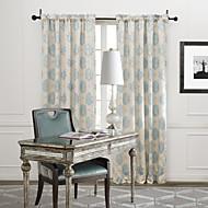 billige Gardiner ogdraperinger-To paneler Window Treatment Rustikk Soverom Poly/ Bomull Blanding Materiale gardiner gardiner Hjem Dekor For Vindu