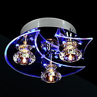 cheap Ceiling Lights-Modern/Contemporary Crystal LED Flush Mount Ambient Light For Living Room Bedroom Dining Room 110-120V 220-240V Bulb Included