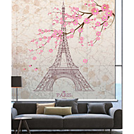 billige Rullegardiner-Euro Drømmeaktig Eiffeltårnet Sakura Roller Shade