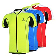 Arsuxeo Muškarci Žene Kratkih rukava Biciklistička majica - Crvena Plava Svijetlo zelena Bicikl Biciklistička majica, Quick dry,