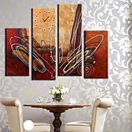 baratos Relógios de Parede em Lona-Moderno/Contemporâneo Tela de pintura Rectângular Interior,AA