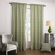 billige Gardiner ogdraperinger-To paneler Window Treatment Moderne , Nyhet Soverom Bomull Materiale gardiner gardiner Hjem Dekor For Vindu