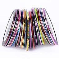 halpa -38pcs sekoittaa värejä rullat raidoitus tape line kynsikoristeet koriste tarra