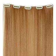 20 Inch 50g Long Synthetic Straight Clip hiusten pidennykset 5 Clips - 12 värit