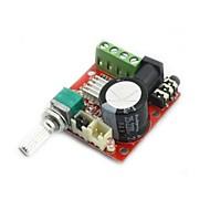 mini-amplificador de áudio digital 10w + 10w / 2 canais amp / class módulo diy d hi-fi 2.0 (DC12V)