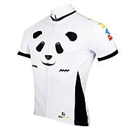 ILPALADINO Ανδρικά Κοντομάνικο Φανέλα ποδηλασίας Πάντα Ποδήλατο Αθλητική μπλούζα Μπολύζες Αναπνέει Γρήγορο Στέγνωμα Υπεριώδης Αντίσταση Αθλητισμός Πολυεστέρας 100% Πολυέστερ / Ποδηλασία Δρόμου