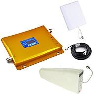 abordables -lcd écran gsm & dcs téléphone mobile bi-bande amplificateur de signal + log antenne périodique + antenne planaire avec câble