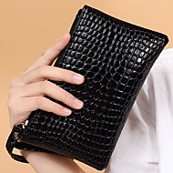 Women Bags Summer Winter All Seasons PU Wristlet for Event/Party Casual Sports Formal Black Red