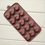 15 hullers hjerte fersken hjerte form kage is gelé chokolade silikoneforme