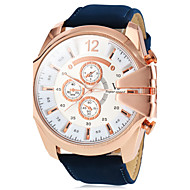 V6® Men's Watch Military Style Rose Gold Case Leather Band  Cool Watch Unique Watch Fashion Watch