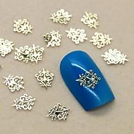 저렴한 -200PCS 빈티지 로얄 디자인 황금 금속 슬라이스 네일 아트 장식