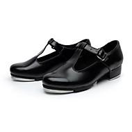 Χαμηλού Κόστους Παπούτσια χορού-Γυναικεία Κλακέτες Δερματίνη Λουστρίν Τακούνια Αγκράφα Χαμηλό τακούνι Μαύρο 1 - 1 3/4 Μη Εξατομικευμένο