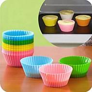 godteri farge silikon bake kake forme 6stk. (assortert farge)