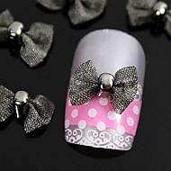 저렴한 -손가락 끝 액세서리 네일 아트 장식을위한 개입은 검은 나비 넥타이