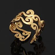 Feminino Anéis de Casal Maxi anel Anéis Grossos bijuterias Ajustável Aberto Pedaço de Platina Chapeado Dourado Jóias Para Casamento Festa