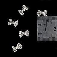 10pcs  3D Blink Rhinestone Bow Tie  Alloy Fingernail Accessories Nail Art Decoration