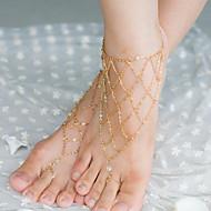 저렴한 -shixin® 빈티지 크리스탈 불규칙한 그물 모양 맨발로 샌들 (황금, 실버, 브론즈) (1 개)