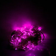 10m 100 הילונות ליל כל הקדושים דקורטיביים אורות חגורה רצועה אורות - אור רגיל מחרוזת אור ורוד (220v)