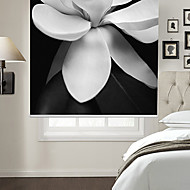 Blooming Flower Made Of Cloth With Black Background Roller Shade