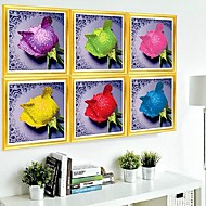 DIY Wall Hangings Wall Decor, Fantacy Water Rose 3D Crystal Canvas Painting Art  Wall Decor