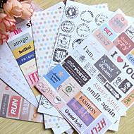 poștă scrapbooking cuvântul decora autocolante (6pcs) embellishments& TRIM
