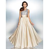 Teacă / coloană un umăr podea lungime satin chiffon rochie de bal cu draperii de ts couture®