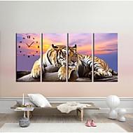 4個/セットの虎の壁のステッカーの壁時計の家の装飾の背景画像