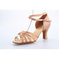 baratos Sapatilhas de Dança-Mulheres Sapatos de Dança Latina / Dança de Salão Cetim Sandália Salto Carretel Não Personalizável Sapatos de Dança Preto / Azul / Fúcsia / Couro