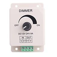 8A 1-Channel Led Knob-Operated Control Dimmer for LED Strip Lamp  (DC 12V-24V)