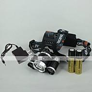 ieftine -4 Frontale Far LED 2400 lm 4.0 Mod LED cu Baterii și Încărcătoare Focalizare Ajustabilă Reîncărcabil Camping/Cățărare/Speologie Utilizare