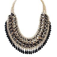 Žene Bib ogrlice Izjava Ogrlice / Ogrlica od prstena - Vintage, Europska, Moda Zelen, Plava, Pink Ogrlice Za Party, Special Occasion, Rođendan