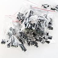 capacitores eletrolíticos 0.22uF - 470uf (12 valores x 10pcs)