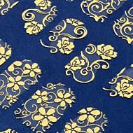 preiswerte -108 ein Blatt goldenen Blume 3D Nagel Art Aufkleber Decals Dekorationen Heißpräge