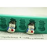 billige -Jule snømann gave fondant kake sjokolade silikon mold kake dekorasjon verktøy, l12 * W4 * h1.3cm