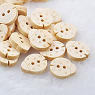 gândaci Carnet scraft cusut DIY butoane din lemn (10 buc)