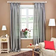 baratos Cortinas Transparentes-dois painéis quarto sólido geométrico cinzento roxo vermelho cortinas diáfanas