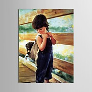 cheap Oil Paintings-Hand-Painted People Vertical Canvas Oil Painting Home Decoration One Panel